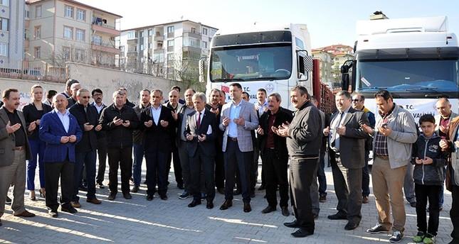 تركيا ترسل لوازم مدرسية إلى الباب وجرابلس استعداداً لافتتاح مدارس المدينتين