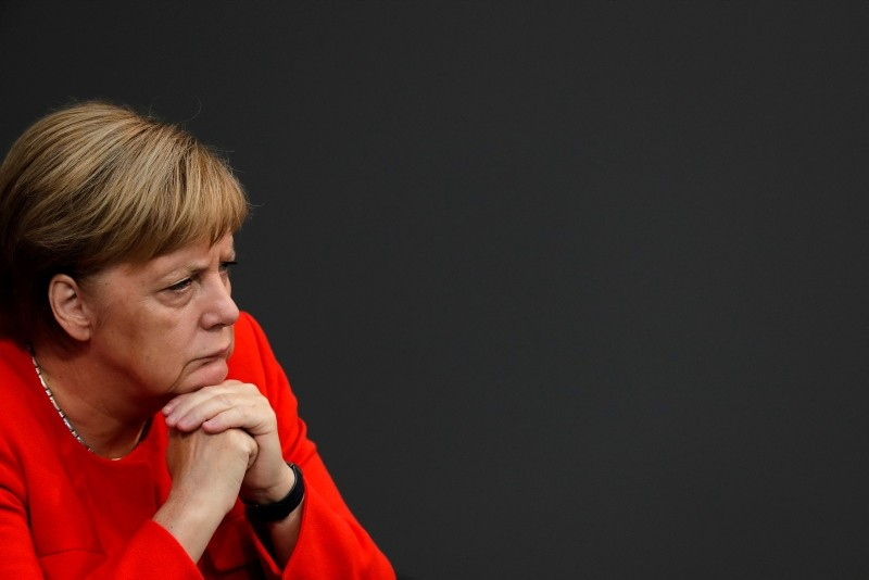 German Chancellor Angela Merkel attends a plenary session of the German parliament Bundestag about the budget 2019, in Berlin, Wednesday, Sept. 12, 2018. (AP Photo)