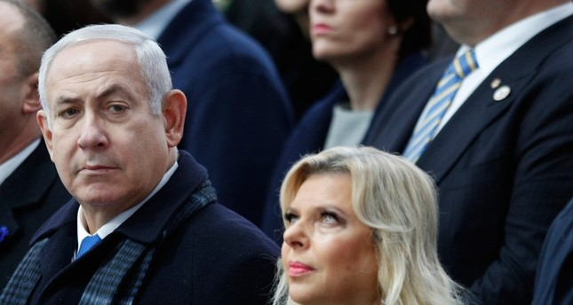 In this Nov. 11, 2018, file photo, Israeli Prime Minister Benjamin Netanyahu and his wife Sara attend ceremonies at the Arc de Triomphe in Paris. (AP Photo)