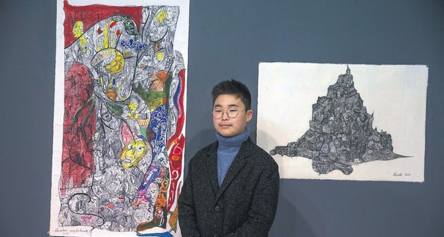 "The 60 works of İnhu Lee came together with art lovers at the exhibition titled ""Little Genius Artist"" in cooperation with the Korean Embassy and CerModern."