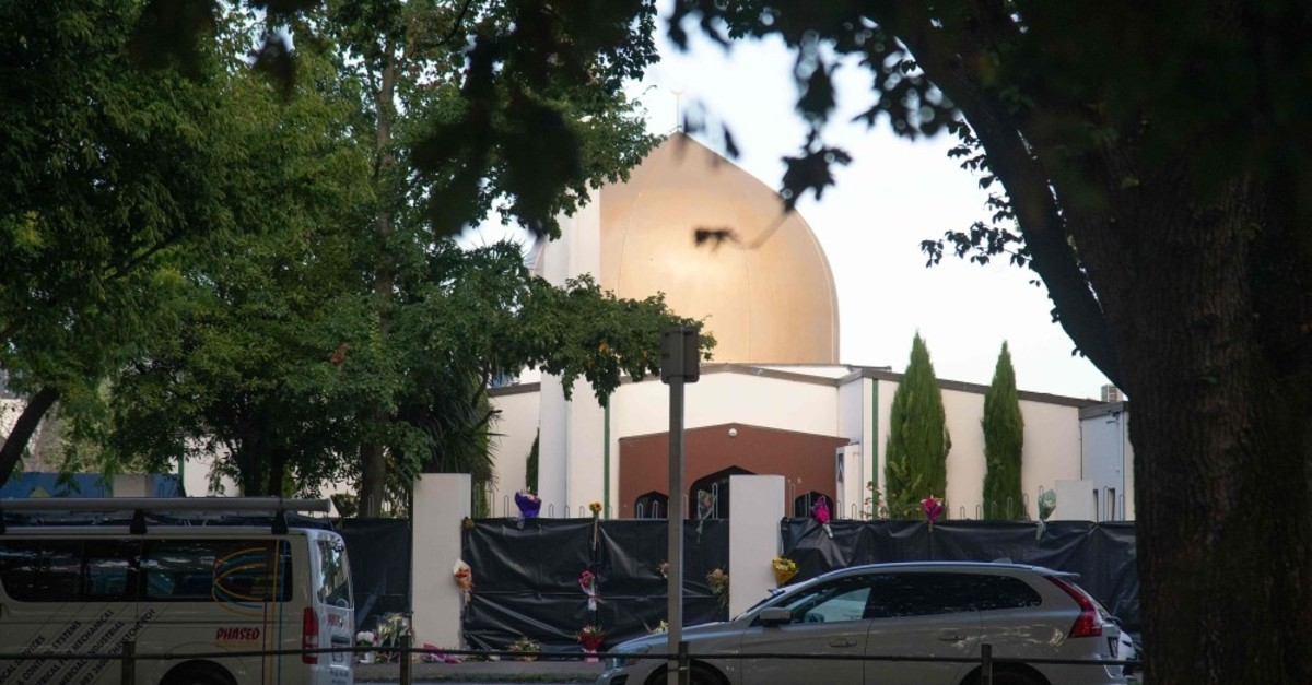 The Dean Avenue mosque, one of the two mosques in Christchurch, New Zealand that was attacked by the right-wing terrorist Brenton Tarrant, March 17, 2019.