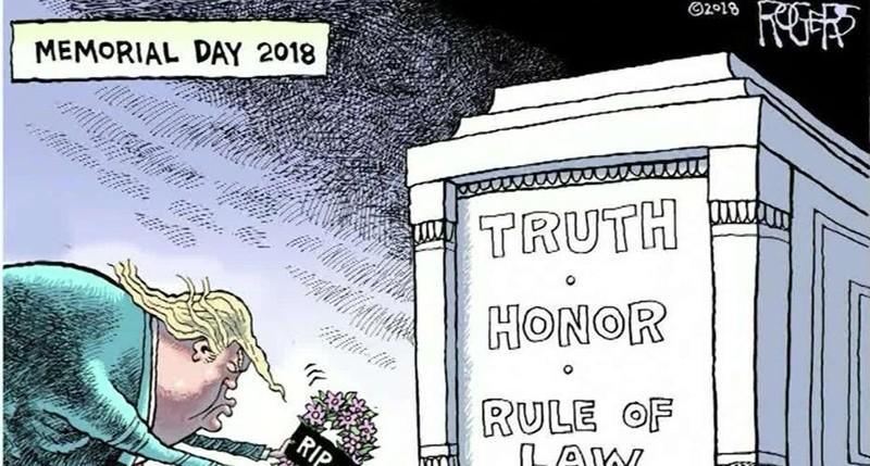 A cartoon by Rob Rogers.