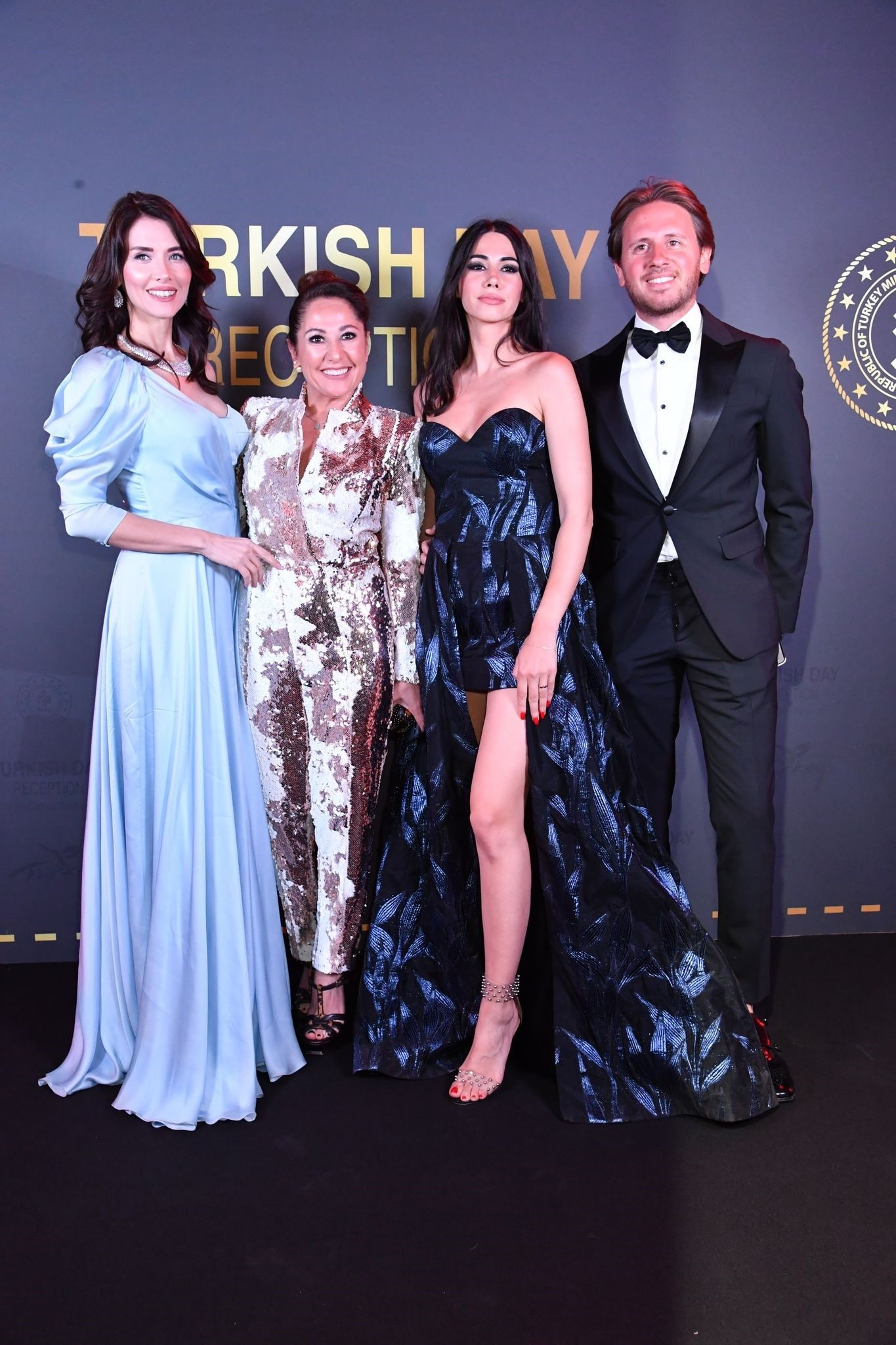Turkish actress and model Nefise Karatay, Gonca Karaüç and Turkish blogger and vlogger Zeynep and her husband Alkan Zor.