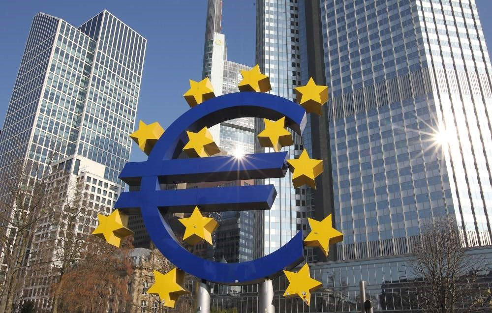 The Frankfurt-based European Central Bank lowered its 2017-2019 inflation forecasts on lower oil prices and raised growth predictions.