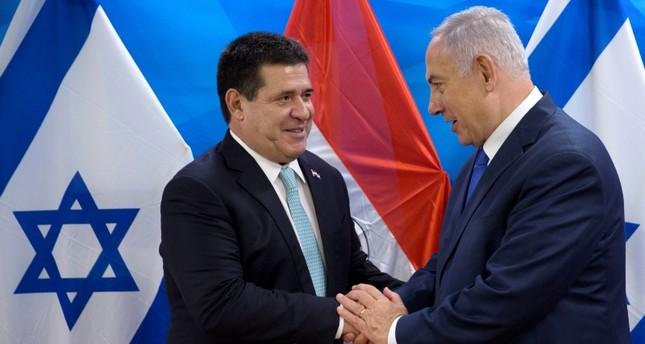 الرئيس البارغواني السابق خلال حفل نقل سفارة بلاده إلى القدس مايو الماضي