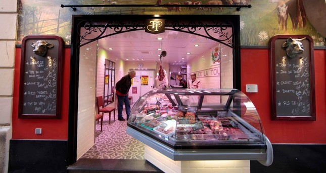 A view shows a butcher shop in the old city of Nice.  (REUTERS Photo)