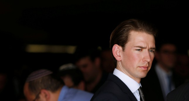Austrian Foreign Minister Sebastian Kurz leaves after a ceremony in the Hall of Remembrance at Yad Vashem Holocaust Memorial in Jerusalem May 16, 2016. (REUTERS PHOTO)