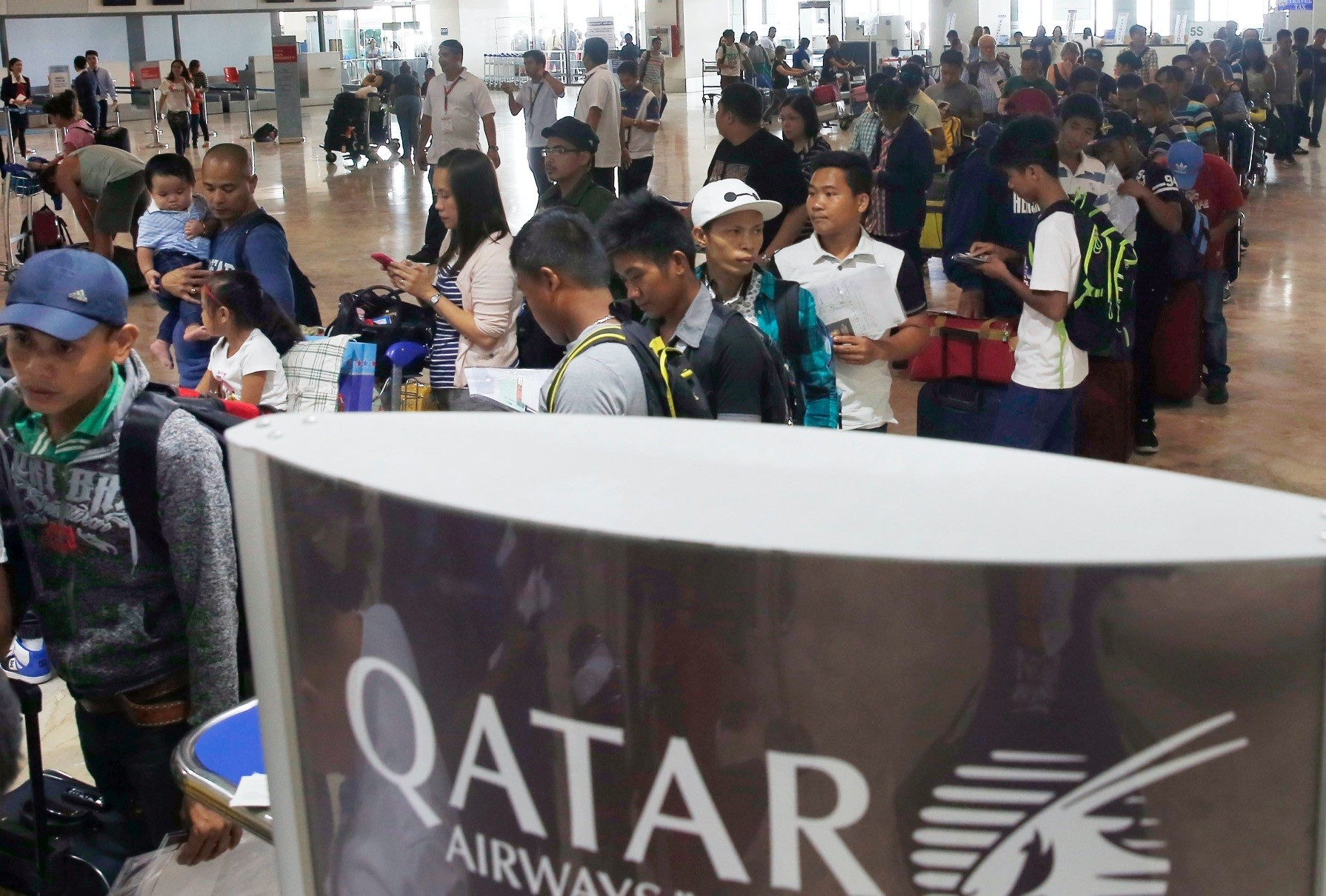 Despite a temporary suspension of the deployment of Filipino workers to Qatar by the Labor Department on Tuesday,
