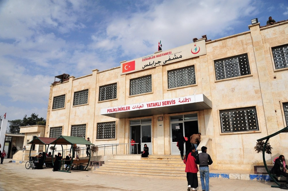 A hospital in Jarablus, northern Syria, built by Turkey after the region was liberated from Daesh terrorists.
