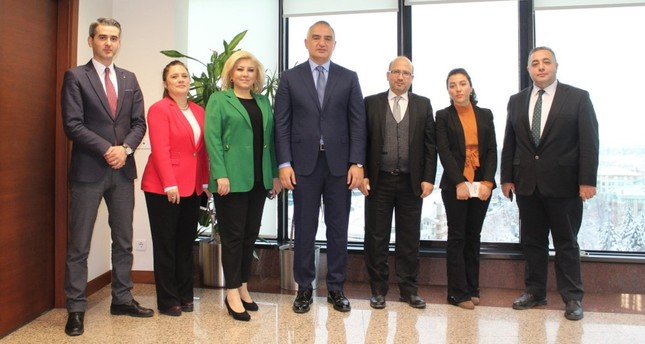 Culture and Tourism  Minister Mehmet Nuri Ersoy (center) gave insights to journalists from Turkuvaz Media Group.