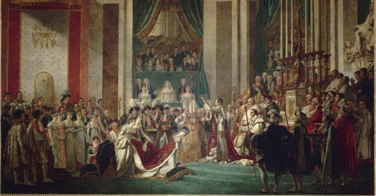 Jacques-Louis David's ,The Coronation of Napoleon.,