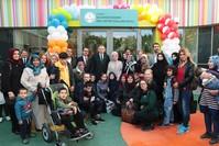 الرئيس أردوغان في افتتاح المدرسة (الأناضول)