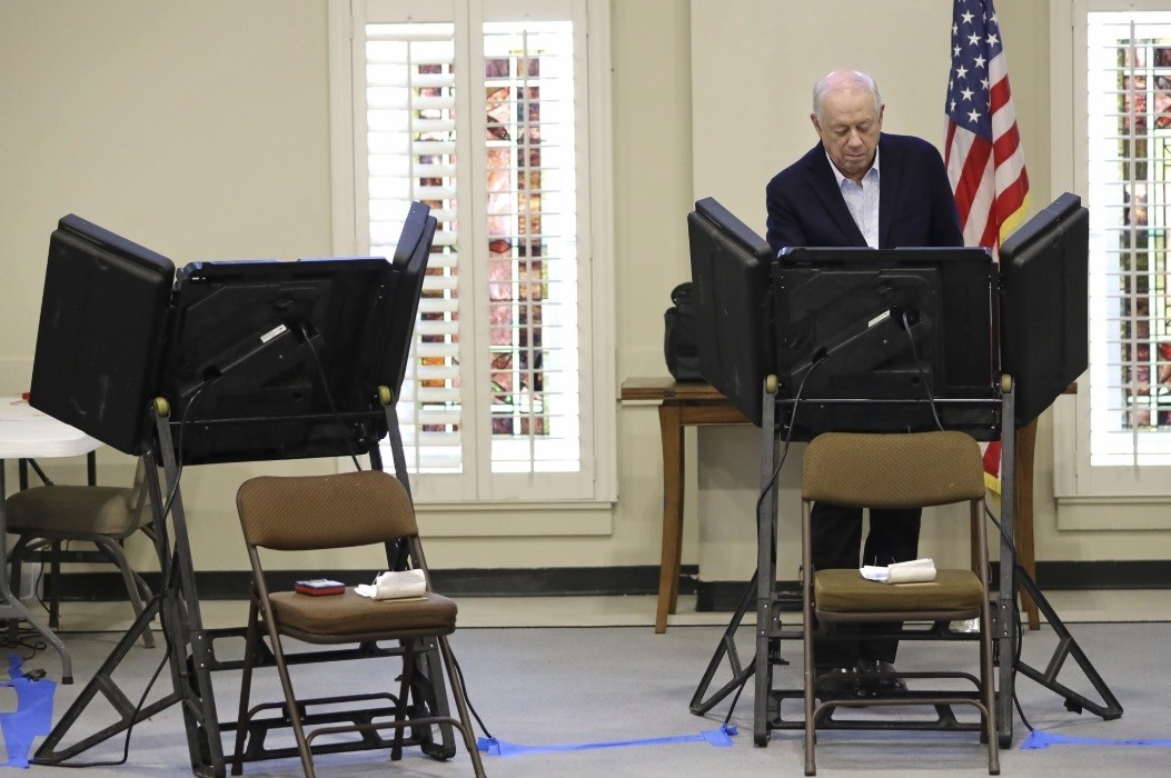 Former Gov. Phil Bredesen votes Tuesday, Nov. 6, 2018, in Nashville, Tenn. Bredesen is running against Rep. Marsha Blackburn, R-Tenn., for the U.S. Senate. (AP Photo)