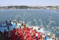 Competitors from 49 countries join Bosporus cross-continental swimming race