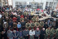 Turkish soldiers, Afrin residents perform first Friday prayers in the city after liberation