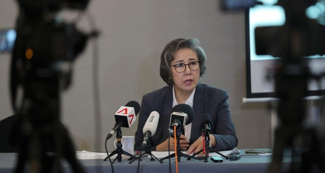 U.N. Special Rapporteur for Human Rights in Myanmar, Lee Yanghee, speaks during a press conference in Kuala Lumpur, Thursday, July 18, 2019. (AP Photo)