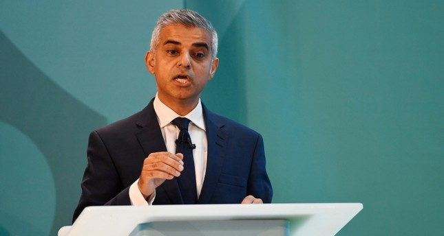 Mayor of London Sadiq Khan speaks during the launch event of UEFA Euro 2020 at London City Hall, Sept. 21, 2016. (Action Images via Reuters)