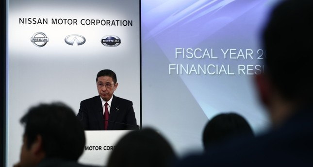 Nissan Motors president and CEO Hiroto Saikawa speaks during a press conference to announce the company's 2019 financial results at its headquarters in Yokohama on May 14, 2019. AFP Photo