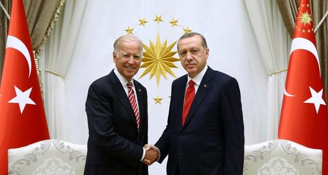 U.S. Vice President Joe Biden (L) yesterday met with President Recep Tayyip Erdoğan following his meeting with Prime Minister Binali Yıldırım.