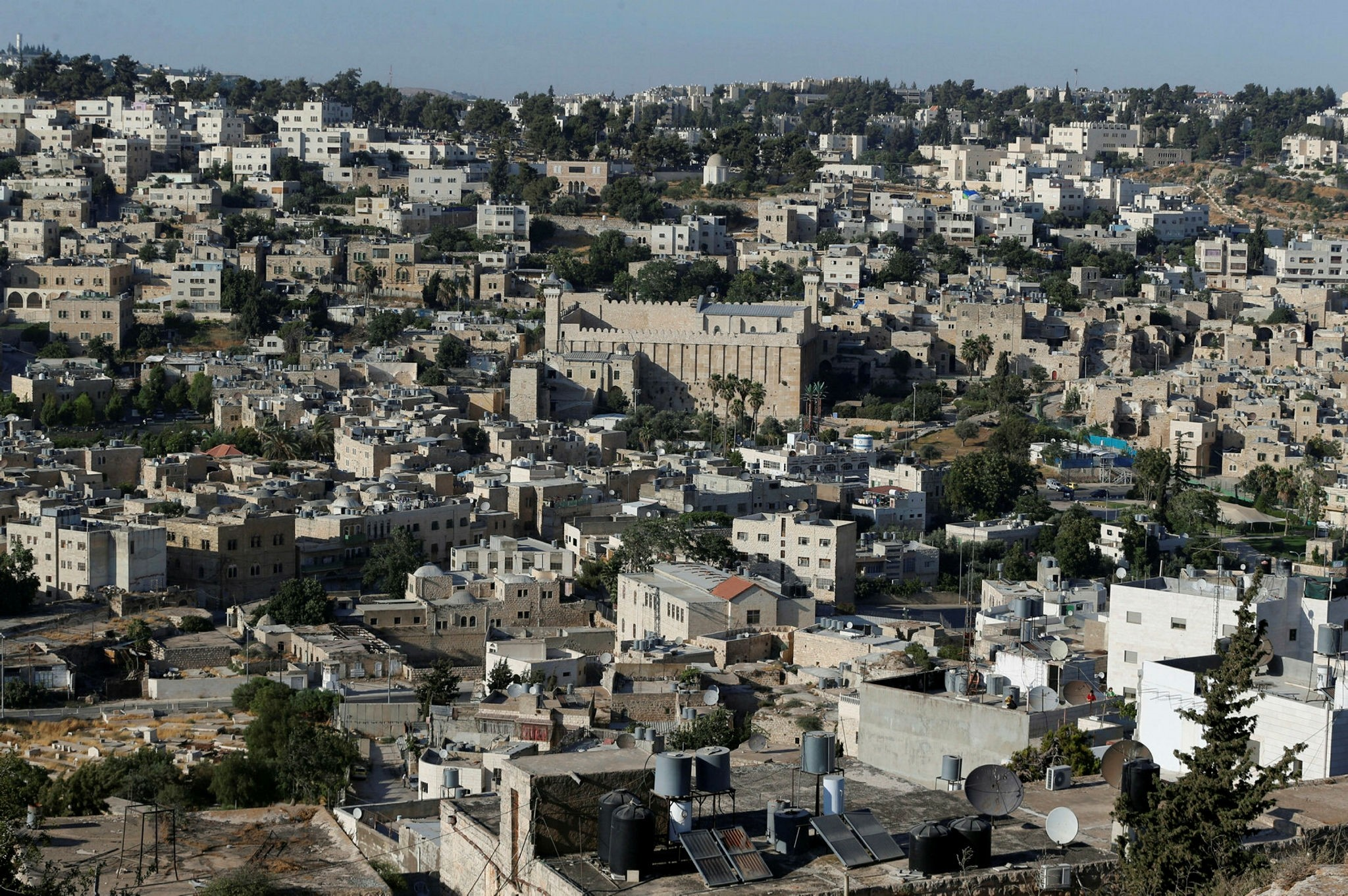 A view of the West Bank city of Hebron, July 7.