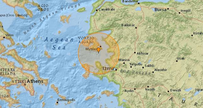 5.3 earthquake strikes Aegean Sea, shakes Turkey's west coast