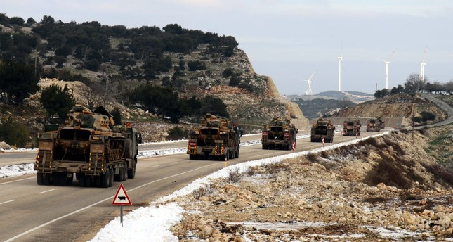 Turkey has been deploying military vehicles and equipment near the Syrian border for a possible operation east of the Euphrates.