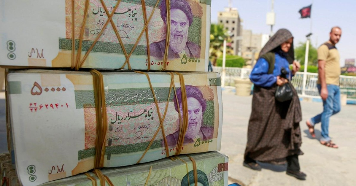 Iranian rial currency notes are seen at a market in the holy Shi'ite city of Najaf, Iraq September 22, 2019. (Reuters Photo)