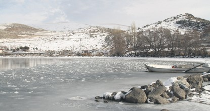 pLake Çıldır in Ardahan has begun to freeze and will stay frozen for up to eight months./p  pSituated 1,959 meters above sea level, Lake Çıldır usually starts to freeze in the beginning of winter...