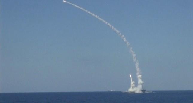 Russian warship strikes Daesh positions near Syria's Deir al-Zour