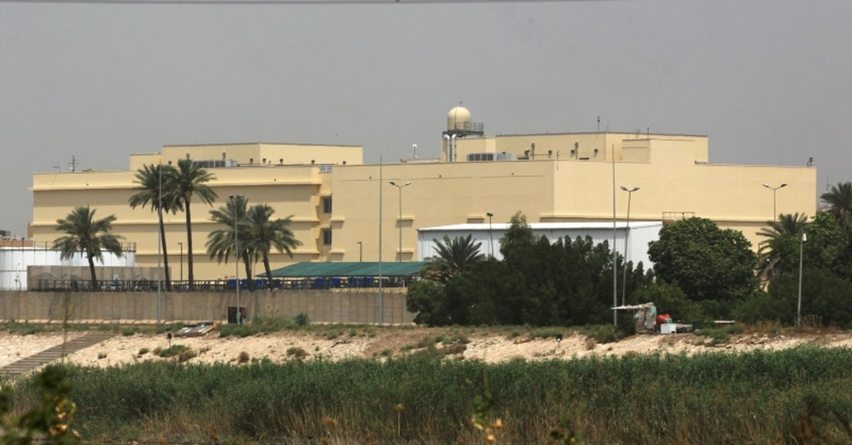 The U.S. embassy compound is pictured in Baghdad's Green Zone on May 20, 2019, in the Iraqi capital. (AFP Photo)