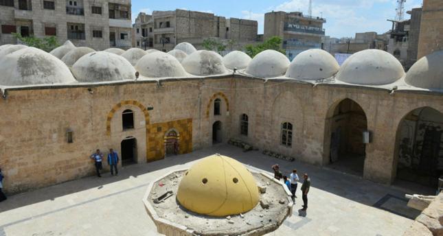 وقف الديانة التركي يرمم مسجداً في الباب السورية على أعتاب شهر رمضان