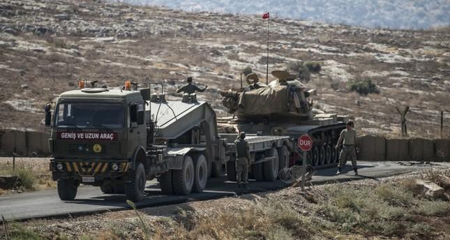 aa photo a turkish military convoy