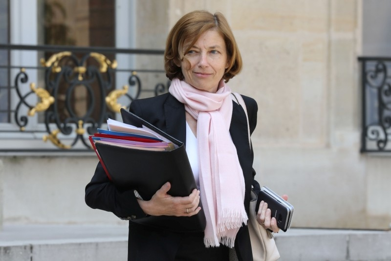 French Defence Minister Florence Parly leaves the Elysee Presidential Palace after attending a weekly cabinet meeting on May 23, 2018 in Paris. (AFP Photo)