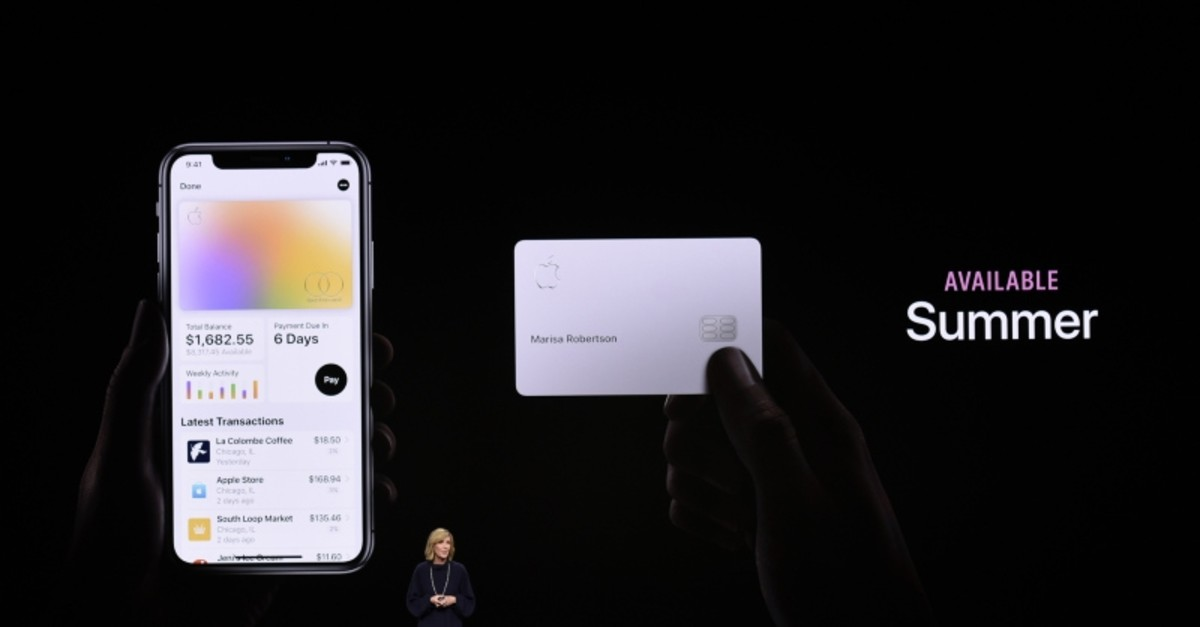 Jennifer Bailey, vice president of Apple Pay, speaks during an Apple product launch event at the Steve Jobs Theater at Apple Park on March 25, 2019 in Cupertino, California (AFP Photo)