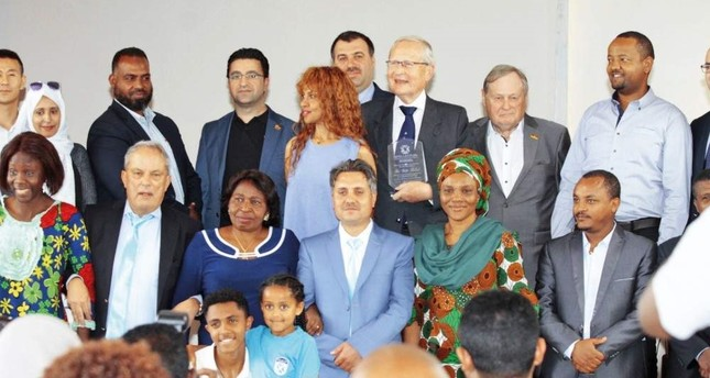 FETÖ officials and their partners attend the opening ceremony of the school in Addis Ababa.