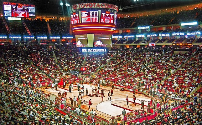A general view of the Toyota Center, the home ground for Houston Rockets.