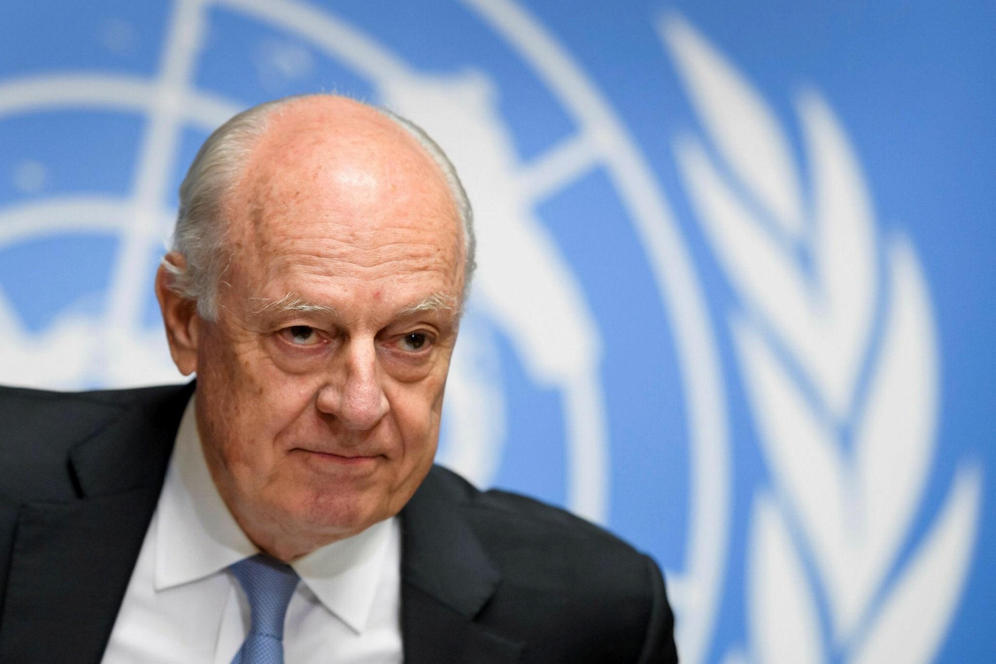 UN Special Envoy for Syria Staffan de Mistura (AFP Photo)