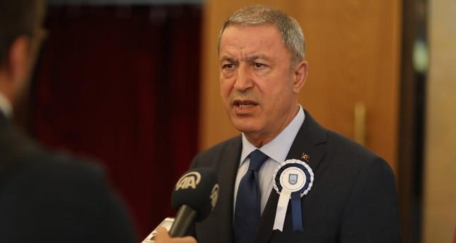 وزير الدفاع التركي متحدثاً للأناضول اليوم