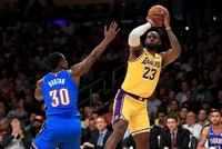LeBron makes NBA history as Lakers defeat Thunder