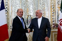 وزير الخارجية الفرنسي يلتقي نظيره الإيراني (الفرنسية)