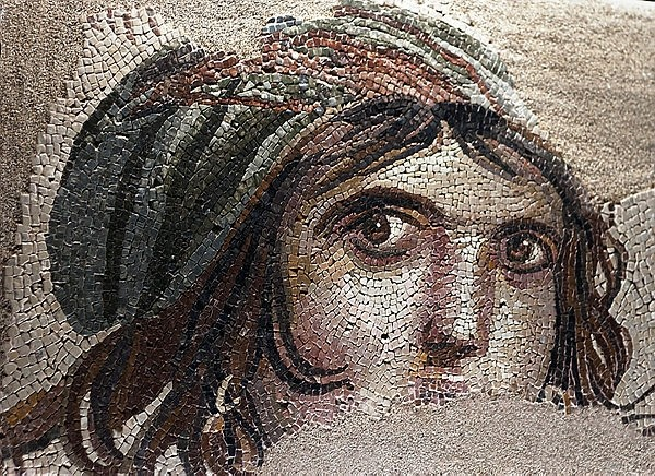 ,Gypsy Girl, mosaic; Akratos, a goddess of the seasons and Earth Goddess of the recovered Satire named Gypsy Girl with traces of mosaic and mother of the gods Gaia or different views on that Alexander the Great. (File Photo)