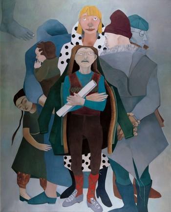 """Neşe Erdok, """"Ağbi Gayzte,"""" 200x160 cm, 1985."""