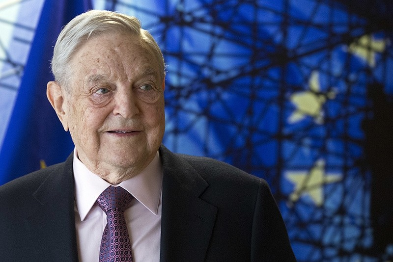 This Thursday, April 27, 2017 file photo shows George Soros, Founder and Chairman of the Open Society Foundation, before the start of a meeting at EU headquarters in Brussels. On Friday, Jan. 26, 2018, (AP Photo)