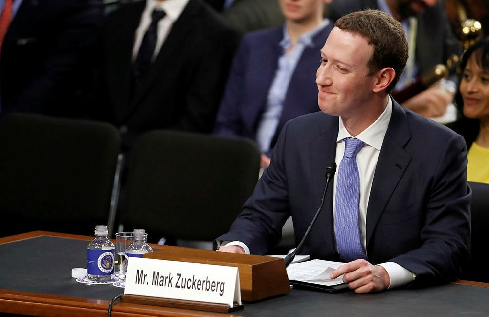 Facebook CEO Mark Zuckerberg testifies before a joint hearing of the Commerce and Judiciary Committees on Capitol Hill in Washington, Tuesday, April 10, 2018. (AP Photo)