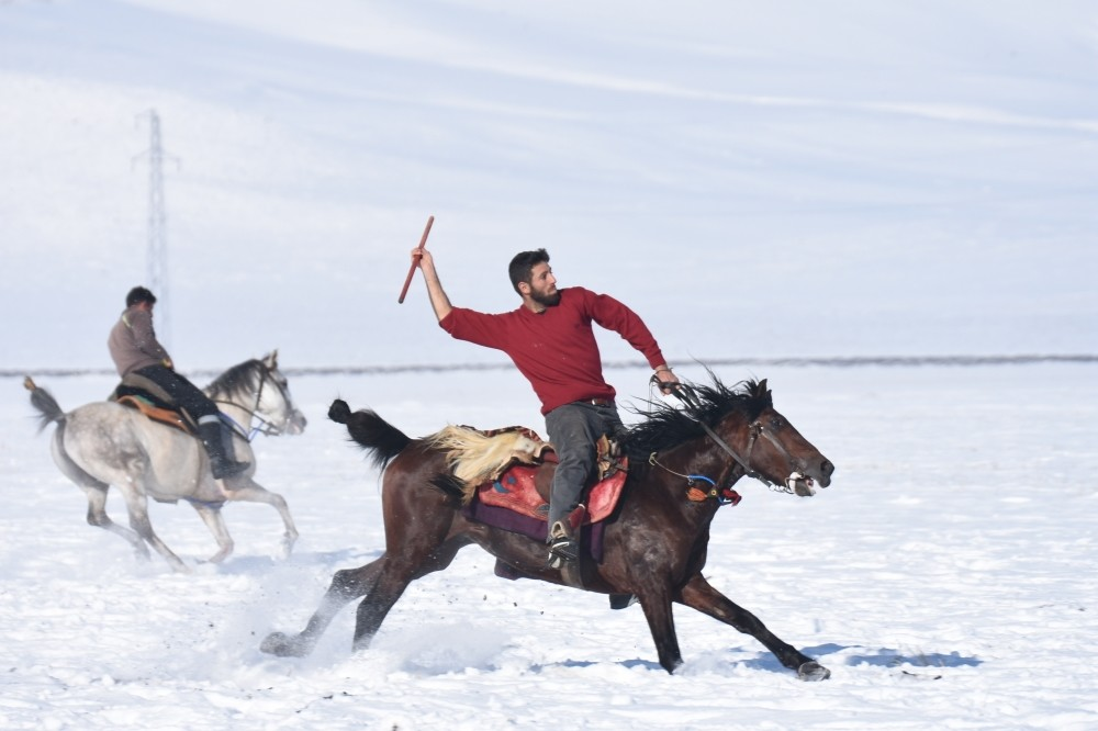 Kars locals play cirit, an ancient Turkish game that has been around for centuries.