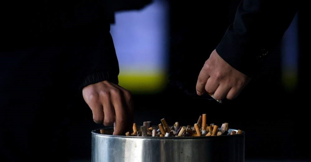 Smoking rates are on the decline across Turkey with ever-growing efforts, yet the harmful addiction is still a serious health issue along with its economic burden. (AFP Photo)