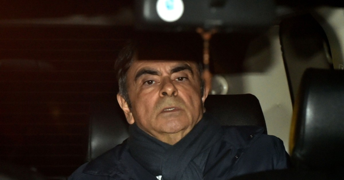 This file photo taken on April 3, 2019 shows former Nissan Chairman Carlos Ghosn leaving his lawyer's office in Tokyo. (AFP Photo)