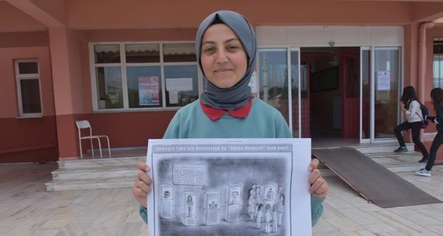 Turkish teen wins global cartoon contest in Croatia