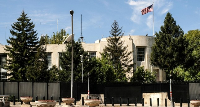 A picture taken on August 20, 2018 shows a general view of the U.S. Embassy, in Ankara. (AFP Photo)