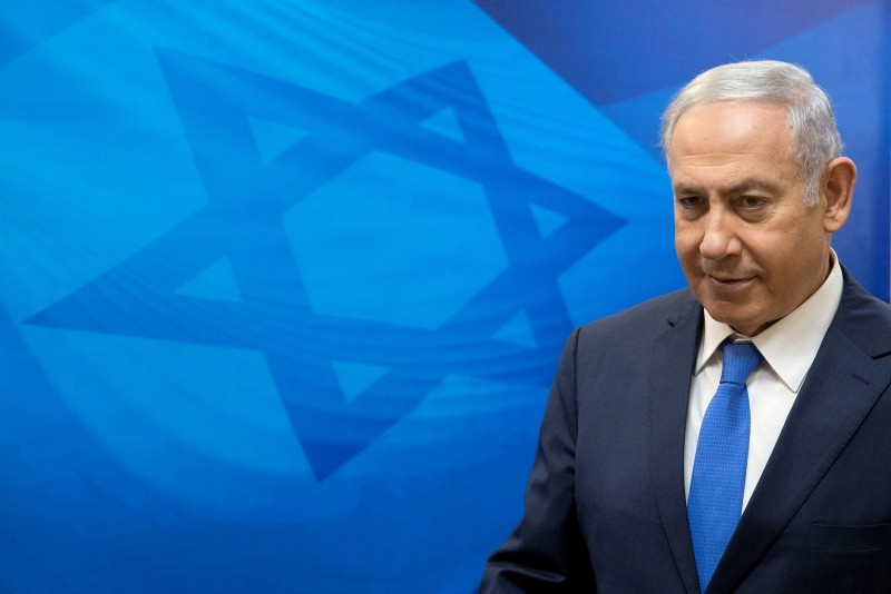 Israeli Prime Minister Benjamin Netanyahu attends the weekly cabinet meeting at the Prime Minister's office in Jerusalem Sunday, July 29, 2018. (AP Photo)